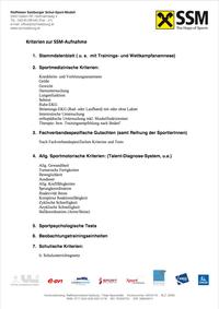 SSM-Aufnahmekriterien